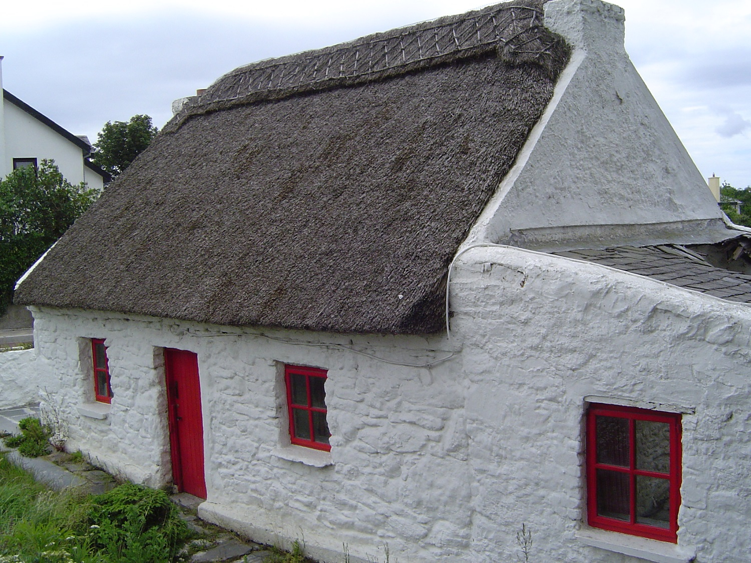 Thatched Cottage in Ireland - Built - On the Bog