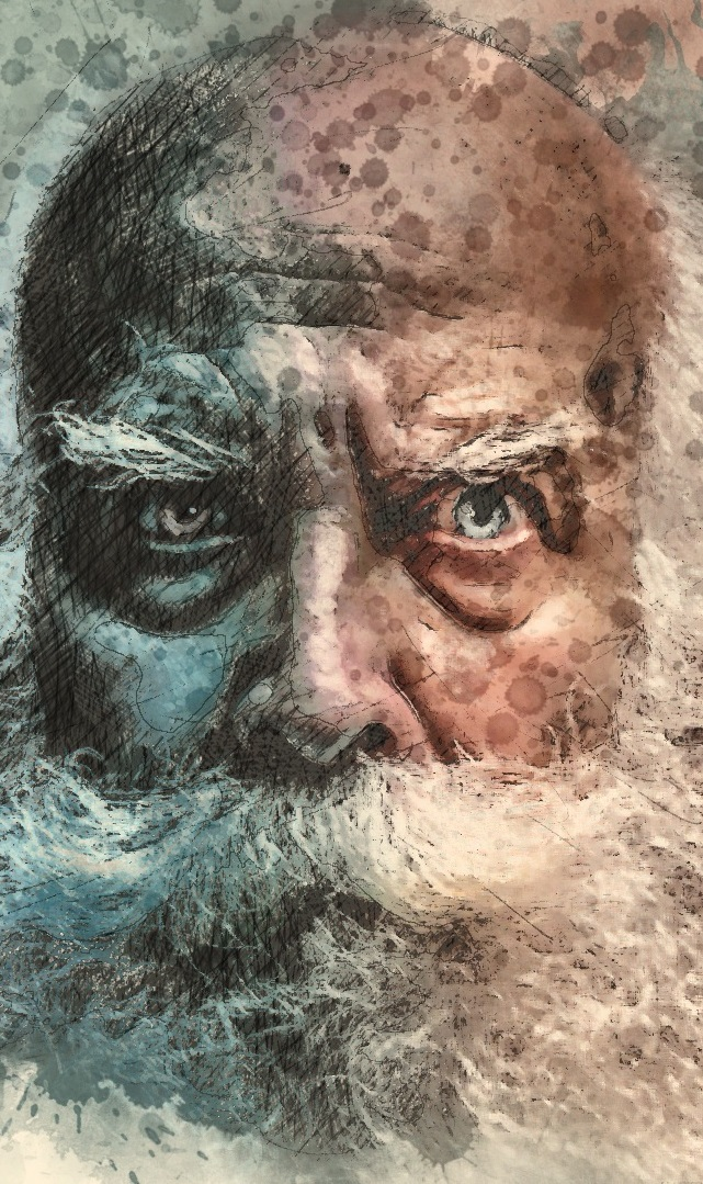 Old man with Beard - On the Bog