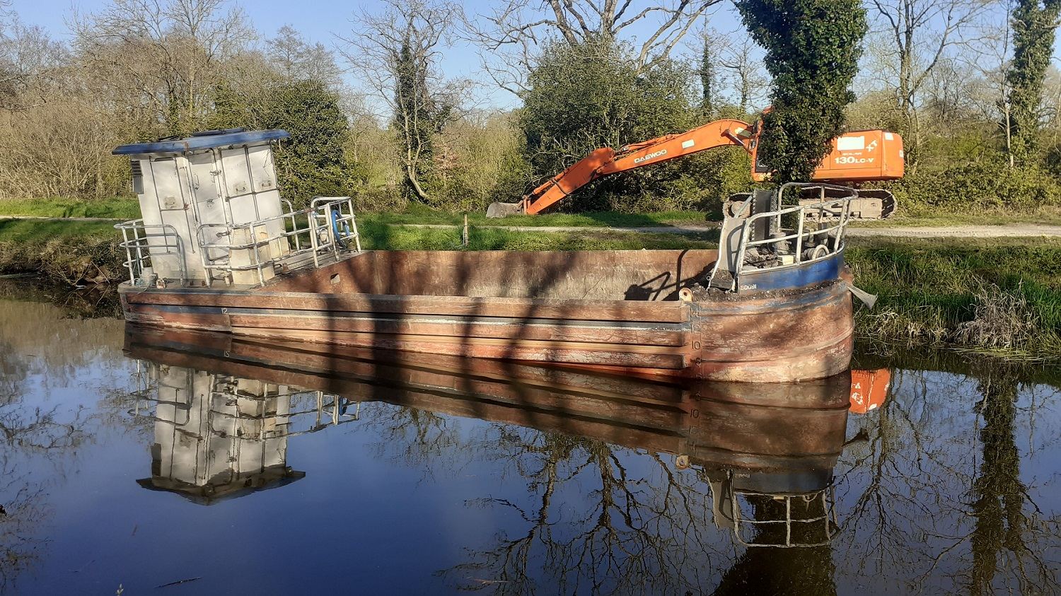 Canal Barge in Ireland